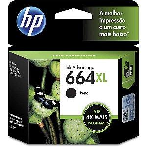 Cartucho HP 664XL preto Original (F6V31AB) Para HP Deskjet