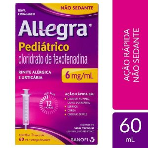 ALLEGRA PEDIÁTRICO 6MG SUS ORAL FR 60ML