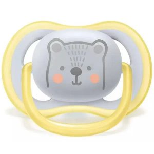 Chupeta Bebê Infantil Ultra Air Urso Amarelo 6-18 meses Tamanho 2 Philips Avent