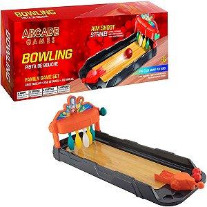 Brinquedo Pista De Boliche Para Criança Com Arremessador Mola Divertido Jogo Em Grupo Maccabi