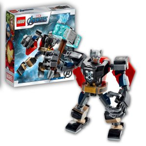 Brinquedo Lego Thor Armadura Robotica Deus do Trovão Infantil Marvel 125 peças +7 anos
