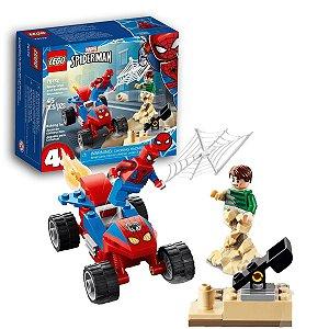 Brinquedo Lego Marvel Homem Aranha no Confronto com Homem-Areia Spider Man 45pcs +4 anos