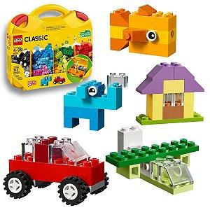 Lego Maleta da Criatividade Classic Peças e Ideias Blocos Infantil Divertidos 213pcs +4 anos