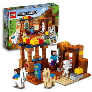 Brinquedo Lego Minecraft O Posto Comercial Aldeião Vendedor 201pcs +8 anos