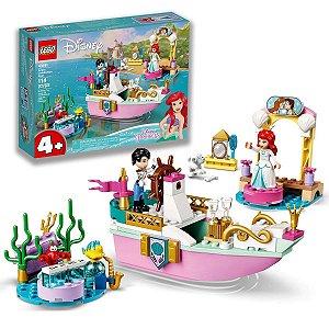 Brinquedo Lego Divertido O Barco de Cerimonia de Princesa Ariel Disney Baby Infantil 114pcs +4 anos