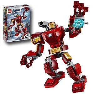 Brinquedo Lego Super Heroi Armadura Robotica Homem de Ferro Infantil Marvel 148 peças +6 anos