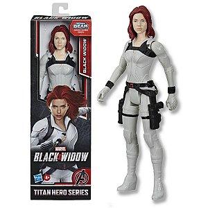 Boneco Marvel Viúva Negra Articulado +4 anos Brinquedo Infantil Divertido Black Widow Titan Hero Series Hasbro