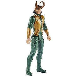 Boneco Marvel Loki Articulado +4 anos Brinquedo Infantil Divertido Avengers Titan Hero Series Hasbro