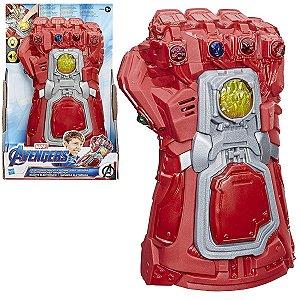 Brinquedo Manopla Eletrônica Luz e Som Marvel Vingadores Criança Infantil Hasbro