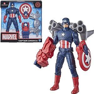 Brinquedo Boneco Marvel Capitão América Infantil Divertido Hasbro