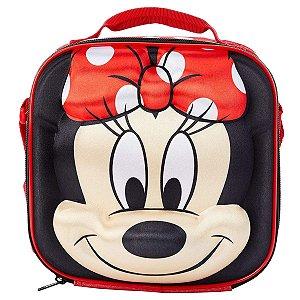 Lancheira Infantil Escolar 3D Alto Relevo Disney Baby Lillo Minnie