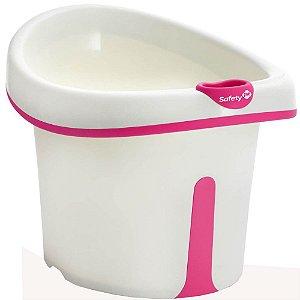 Banheira Ofurô Infantil com Assento Bubbles Pink De 1 a 3 Anos - Safety