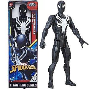 Boneco Marvel Homem Aranha Preto +4 Anos Brinquedo Spider Man Black Suit Titan Hero Serie Hasbro
