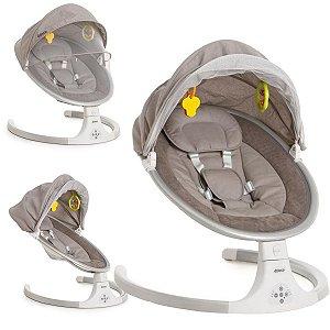 Cadeira de Descanso Bebê Mosquiteiro Balanço 0 Até 9 Kg 3 Velocidades Entrada USB Dzieco Galzerano Zuiky Cinza