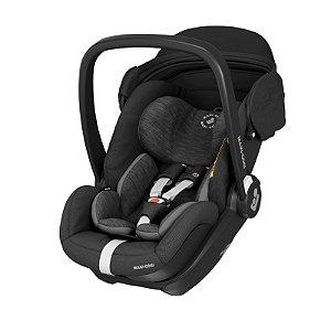 Bebê Conforto Com Base Ambos Isofix Recém Nascido até 13 Kg Reclinavel Marble Maxi Cosi Essential Black