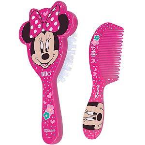 Conjunto Pente Escova Minnie Bebê Criança Infantil Disney Desde o Nascimento Divertido Lillo
