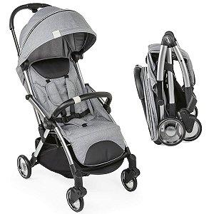 Carrinho de Bebê Passeio Compacto Recém Nascido Até 22 Kg One Hand Prático Goody Chicco Grey