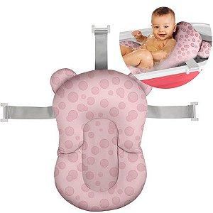 Almofada de Banho Bebê Protetora +0 meses Infantil Sosseguinho Multikids Baby Rosa