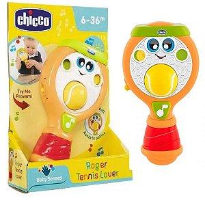Brinquedo de Bebê Educativo Musical Interativo Com Luz 6 a 36 Meses Raquete Roger O Tenista Chicco