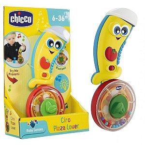 Brinquedo de Bebê Educativo Musical Interativo Com Luz 6 a 36 Meses Ciro O Pizzaiolo Chicco