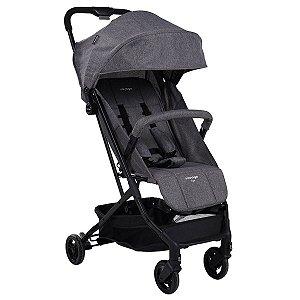 Carrinho de Bebê Compacto Yupi Até 15Kg Passeio Cinza Mescla - Voyage