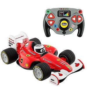 Carrinho de Controle Remoto F1 Ferrari Infantil Criança +3 Anos Carro de Corrida Chicco