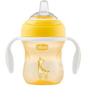 Copo de Bebê Com Alças Treino Transição Com Capa Protetora Bico Silicone +4 Meses Antivazamento Transition Cup Chicco Ne