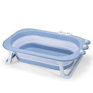 Banheira Infantil Retrátil Crocodilo BB1101 Azul Para Bebê Até 25Kg  - MultiKids Baby