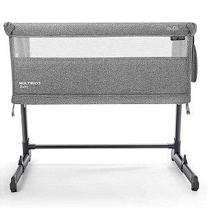 Berço 3 em 1 Bedside NEST BB709 0 a 18kg Cinza - MultiKids Baby