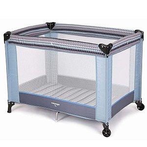 Berço de Bebê Portátil Fit Azul Geo De 0 a 15Kg Voyage
