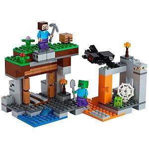 Brinquedo LEGO Minecraft A Mina Abandonada +7 Anos 248 Peças Blocos de Montar