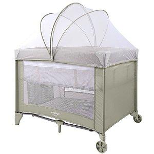 Berço de Bebê Portátil Com Mosquiteiro Compacto Para Viagem Sleep Voyage Bege