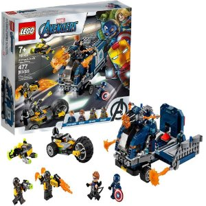 Lego Marvel Avengers Vingadores Ataque de Caminhão dos Vingadores 477 Peças +7 Anos