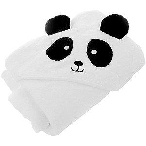 Toalha com Capuz Infantil Panda - Infanti