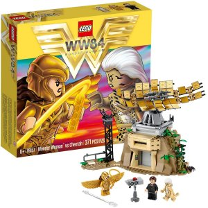 Brinquedo Lego Mulher Maravilha VS Cheetah 3 Bonecos 1 Torre +8 Anos 371 Peças
