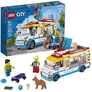 Lego City Infantil Van de Sorvetes 200 Peças +5 Anos