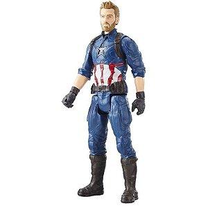 Boneco Capitão América Original Avengers 30cm Hasbro E1421
