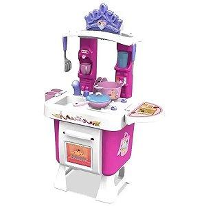 Cozinha Infantil Criança Princesas Disney A partir dos 3 Anos Com acessórios e Adesivos Xalingo
