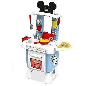 Cozinha Infantil Criança Mickey Mouse Disney A partir dos 3 Anos Com acessórios e Adesivos Xalingo