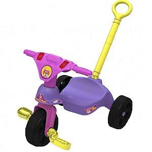 Triciclo Infantil Criança 12 Meses a 23 Kg Com Empurrador Oncinha Racer Xalingo