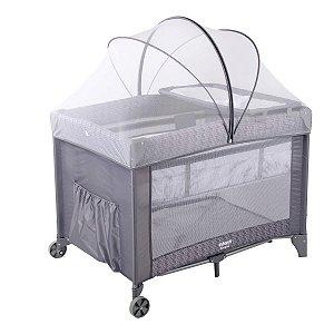 Berço de Bebe Com Mosquiteiro Trocador 0 Até 18Kg Portátil Compacto Bolsa de Transporte Sereno Infanti Hail Grey