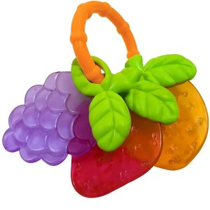 Mordedor e Chocalho Para Bebê Frutas Texturas Massageadoras +4 Meses Lillo