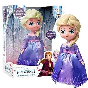 Boneca Dançarina Frozen 2 Elsa Com Música Do Filme Luzes A partir de 3 Anos Disney Toing