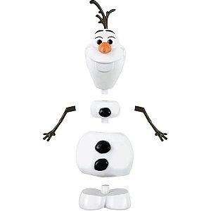Olaf Boneco Frozen Infantil Criança Monta e Desmonta 3 Rostos A partir de 3 anos Disney Toyng