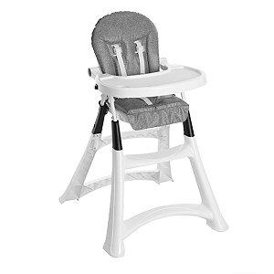 Cadeira de Refeição Bebê Portátil Alimentação 0 Até 15Kg Alta Premium Galzerano Graphite 5070GR