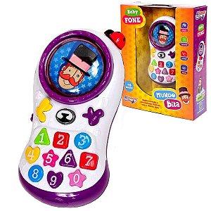 Telefone Infantil Mundo Bita com Luzes e Músicas Originais Para +6 Meses
