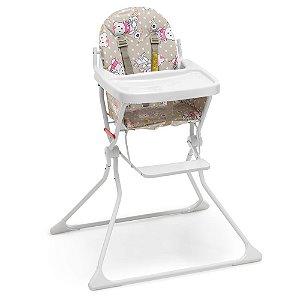 Cadeira Alta De Bebe Para Alimentação Refeição Ursinho Standard II Até 15 Kg Galzerano