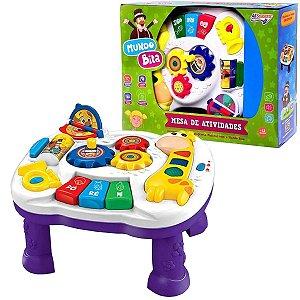 Mesa de Aprendizagem do Bebê Mundo Bita com Som e Atividades +12 Meses