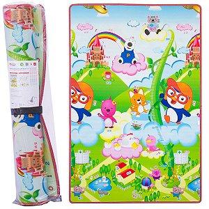 Tapete de Atividades Bebê Infantil Criança Dupla Face 180x120cm Feijãozinho - Comtac Kids