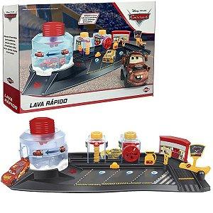 Lava Rápido de Brinquedo Infantil com McQueen e Cruz Carros Disney Pixar Para +3 Anos - Toyng